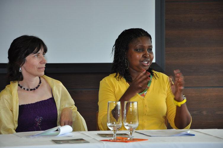 v.l. Marianne Pirsch, Olivia Mugabe-Mitterer