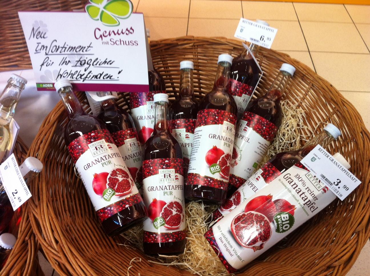 Granatapfel enthält wertvolle antioxidative Stoffe