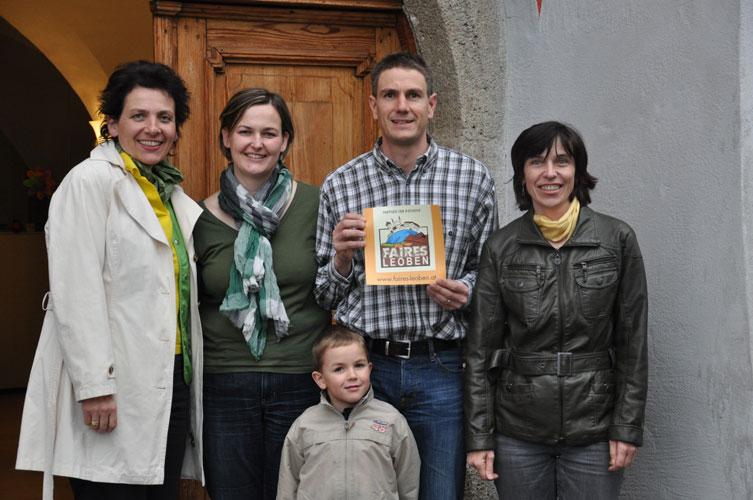 Familie Lanzer-Breitfuß mit den Initiatorinnen